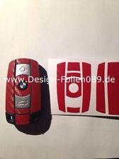 CARBON ROT Schlüssel Folie BMW Key 1er 3er 5er X3 X5 X6 E60 E70 E90 E91 E92 E93