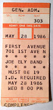 Joe Ely Band Ticket Stub First Avenue Minneapolis May 28th 1986