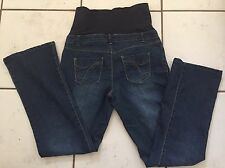 THYME MATERNITY  MJeans Lot 2 Womens Blue Bootcut & Shorts Stretch  Size M