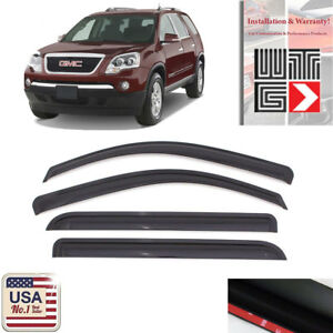 Window Visor Vent Shade Rain Sun Wind Guard Smoke For 2007-2010 Saturn Outlook