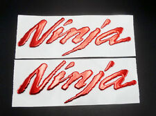 Emblem Decals Sticker for Kawasaki Ninja ZX-6R ZX 10R ZX-14R 250 Red 3D Raised
