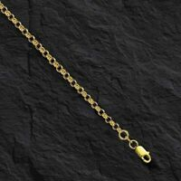"""14k Yellow Gold Round Cable ROLO Link Pendant Chain/Necklace 20"""" 2.3mm 3 grams"""