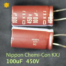 Nippon Capacitor KXJ 100uF 450V Long Life 105C up to 12,000 hours  (2 pcs)