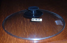 Clear glass lid w/stainless band, fits 10-1/4inch opening,pan,skillet, Lot 2-16I