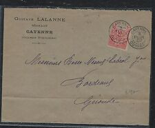 French Guiana (Pp2709B) 1907 Cover From Cayenne, Guyane To France