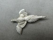 Pheasant brooch Stamped silver