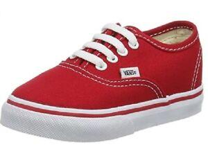 Vans Unisex Child Authentic - Red - 12