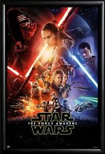 Framed - Star Wars Episode VII The Force Awakens Movie in Matte Black Wood Frame