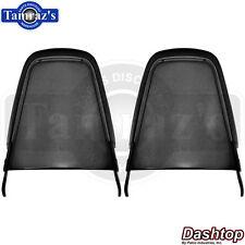 1970 Mopar A B & E Body Front Bucket Seat Back Plastic Panels BLACK - PAIR