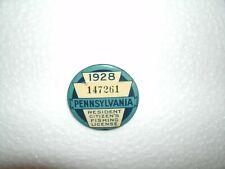 1928 pa Pennsylvania fishing license