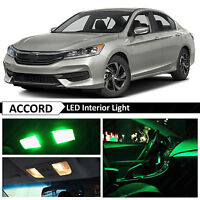 16x Green Interior LED Lights Package Kit for 2013-2017 Honda Accord