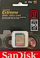 Sandisk 32GB Extreme SD SDHC Memory Card UHS-1 U3 Class 10 V30 90MB/s  NEW