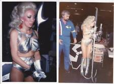 Lot 1: Two ANGELIQUE PETTYJOHN Star Trek convention photos - Ackerman collection