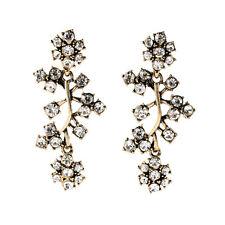 NEW Urban Anthropologie Abstracta Vine Flower White Rhinestone Earrings