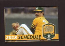 Rollie Fingers--2018 Oakland Athletics Pocket Schedule--Cache Creek Casino