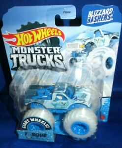 GIANT HOT WHEELS MONSTER TRUCKS 1:64 BLIZZARD BASHER TORQUE TERROR SNOW OWL 2020
