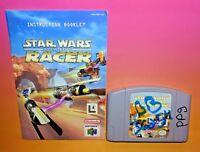 Star Wars: Episode I: Racer (Nintendo 64, 1999) Game Cart + Manual - AUTHENTICr