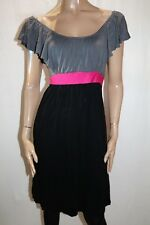 Hot Options Brand Black Grey Spliced Dress Size 12 BNWT #SB02