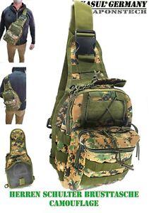 Camouflage Taktische Umhängetasche BW Brusttasche Smartphone Tablet OutdoorReise