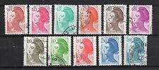 France : 1982 Type Liberté ( lot 11 timbres oblitéres ) Yt 2179-2190 ( no 2188 )