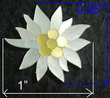 PH8# Sunflower Inlay in White Mop & Gold Mother of Pearl 1.5mm thickness