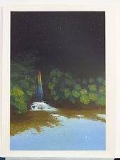 Lithograph of Vivid Waterfall by Brazilian artist Antonio Peticov, 1983