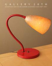 RARE! ORIG. MID CENTURY MODERN DESK LAMP! ATOMIC VTG FIBERGLASS GOOSENECK 1950