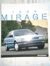 Mitsubishi Mirage range brochure 1989 Puerto Rico market English text