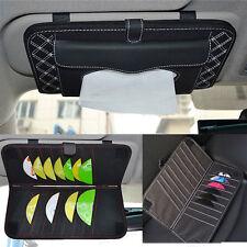 2 In 1 Car Sun Visor Tissue Box Paper Holder CD DVD Case Bag Pack Storage Pocket