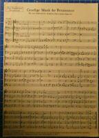 Gesellige Musik der Renaissance für vier Instrumente Das Musikleben BeilageH8217