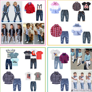 Toddler Baby Boys Coat /T-shirt Tops/ Jeans Pants /Short Suits Kids Outfits Sets