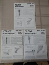 VINTAGE LOT OF 3 TANDY INSTRUCTION SHEETS - STOCK NO. 0761 THRU 0763 USING LACE
