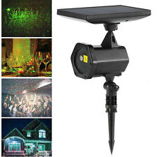 Red & Green Solar-Powered Outdoor Decoration LED Projector Laser Spot Lights