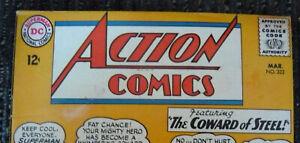 SILVER AGE CLASSICS: LOT of DC SUPERMAN ACTION COMICS (1965-1966)