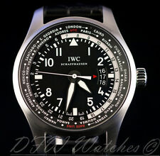 IWC Pilot Worldtimer IW3262-01 IW3262 IW326201 326201 Black Alligator 45mm