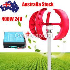 24V 400W VAWT Lanterns Wind Turbine Generator Vertical Axis & Controller