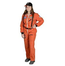 Adult Astronaut Suit, With Embroidered Cap LRG (orange) New