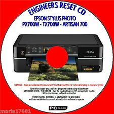 EPSON PX700W TX700W & ARTISAN 700 PRINTER WASTE INK PAD RESET UTILITY PC CD NEW
