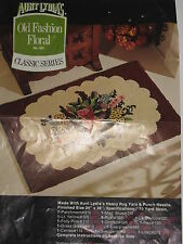"""Vintage Punch Needle Rug Canvas by Aunt Lydia's OLD FASHIONED FLORAL 651 24""""x36"""""""