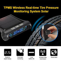 Wireless Solar LCD TPMS Car Real-time Tire Pressure Monitoring System 4 Sensors