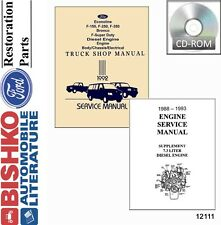 1992 Ford Bronco Econoline F150-F350 F-Super Duty Service CD w/ Diesel Supp