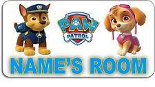Personalised 'Paw Patrol' Aluminium Door Name Plaque