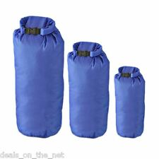 8 Litre Bags Camping Canoeing Hiking Blue 782007 3 x Dry Sacks By Summit 2 4