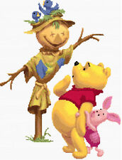 Winnie The Pooh & Scarecrow Counted Cross Stitch Kit Disney