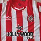 Brentford Fc Football shirt home style Shirt Medium size, New