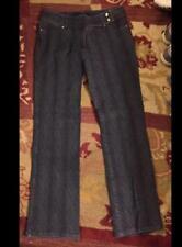 ESCADA Dark Gray Pinstripe Cotton Blend Jean Pants sz 44 [14 US +/-]