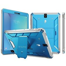 Case For Samsung Galaxy Tab S3 9.7 POETIC【Revolution】Built-In Screen Case Blue