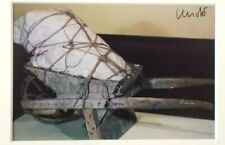 Christo - Package on Wheelbarrow (1960) - SIGNED FRAMED RARE