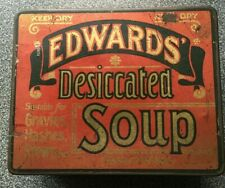 Antique Edwards' desiccated soup tin - Special rare version - designer piece