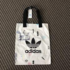 New Adidas White Multi Color Shopper/ Sac RRP $70